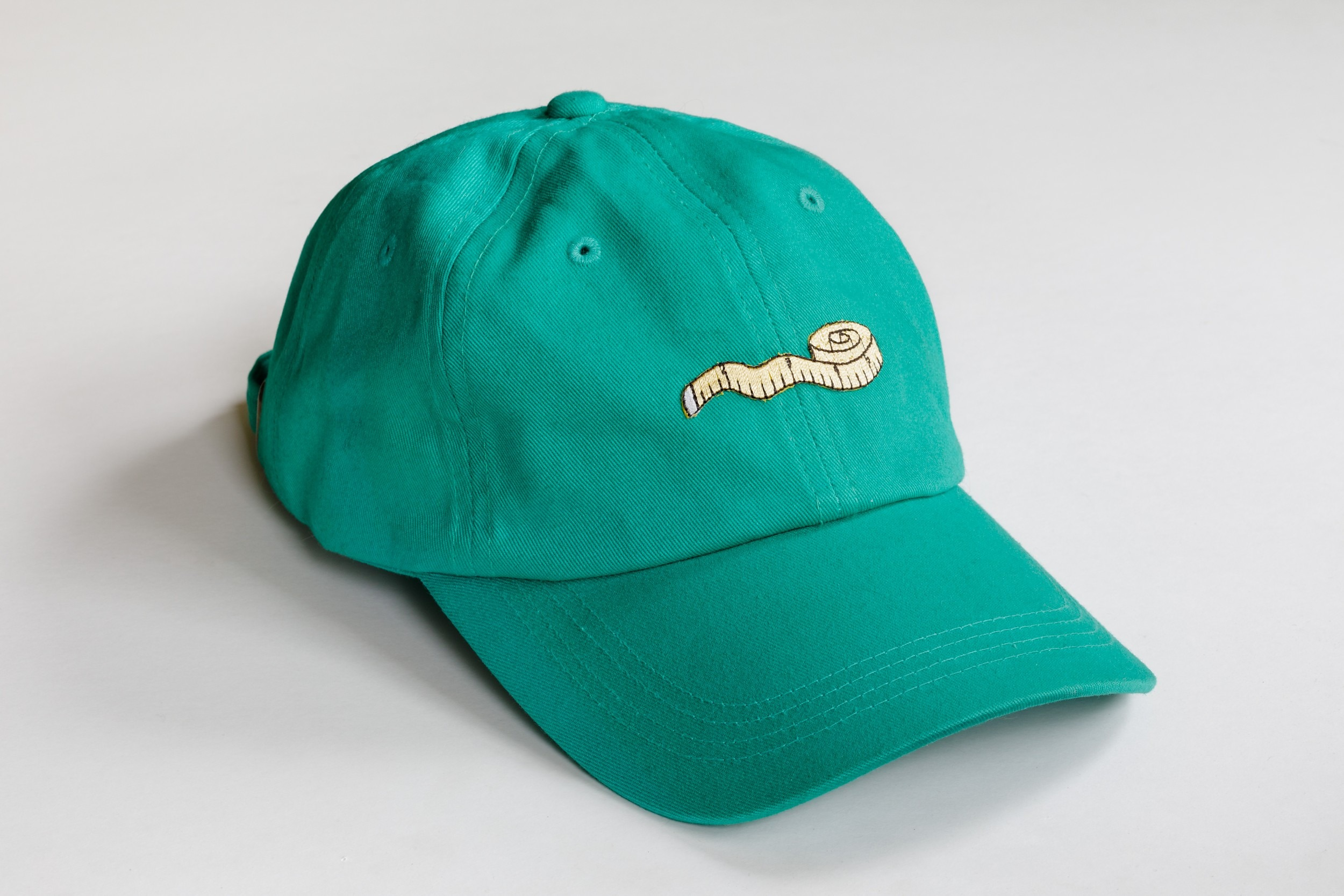 Vita criticata, 2019 Embroidered patch on cotton twill ball cap