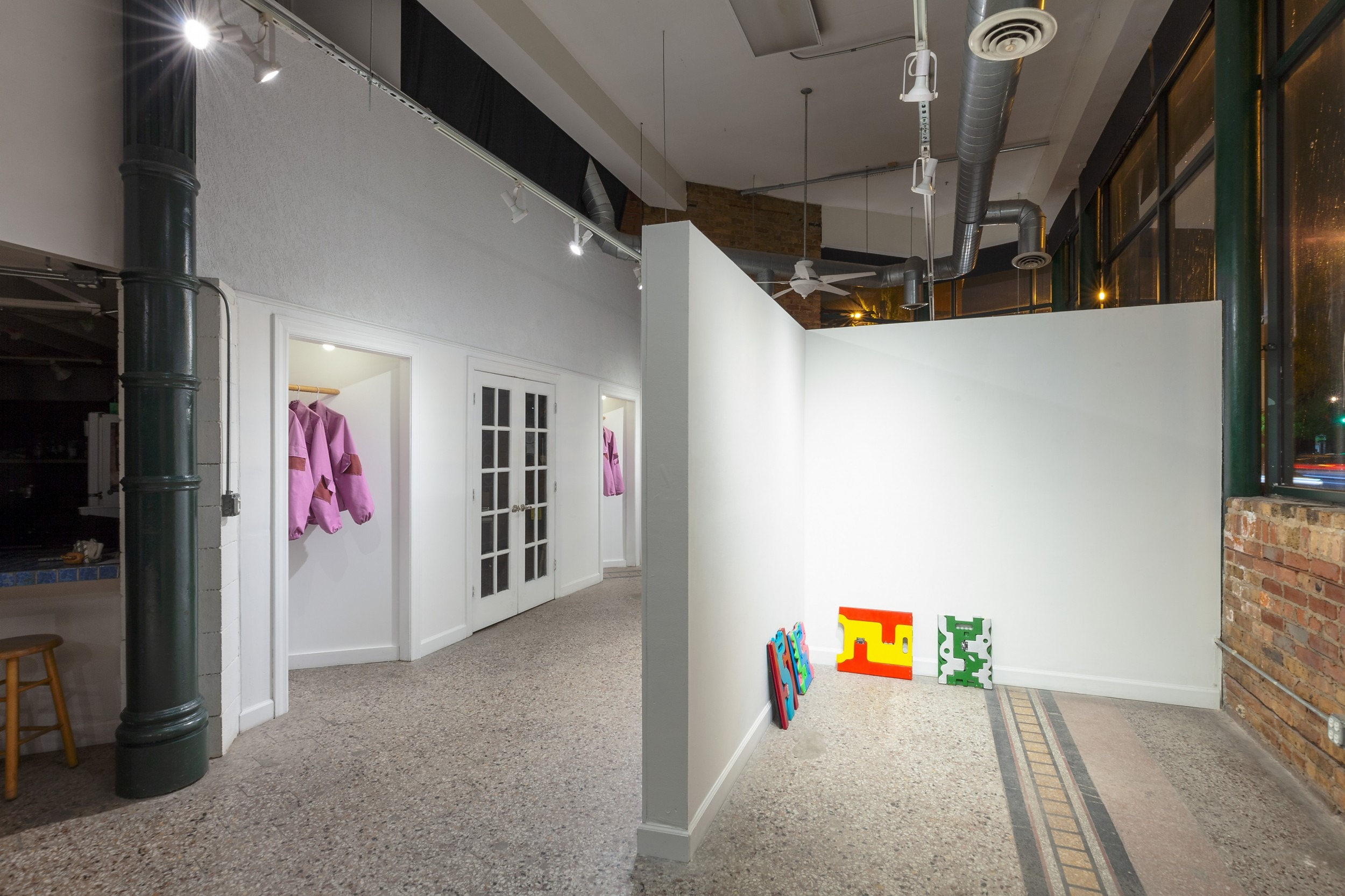 Dan Miller and Aaron Walker, Handkerchiefs and Flowers, 2018 Installation view, Roots & Culture, Chicago, IL, April–May 2018