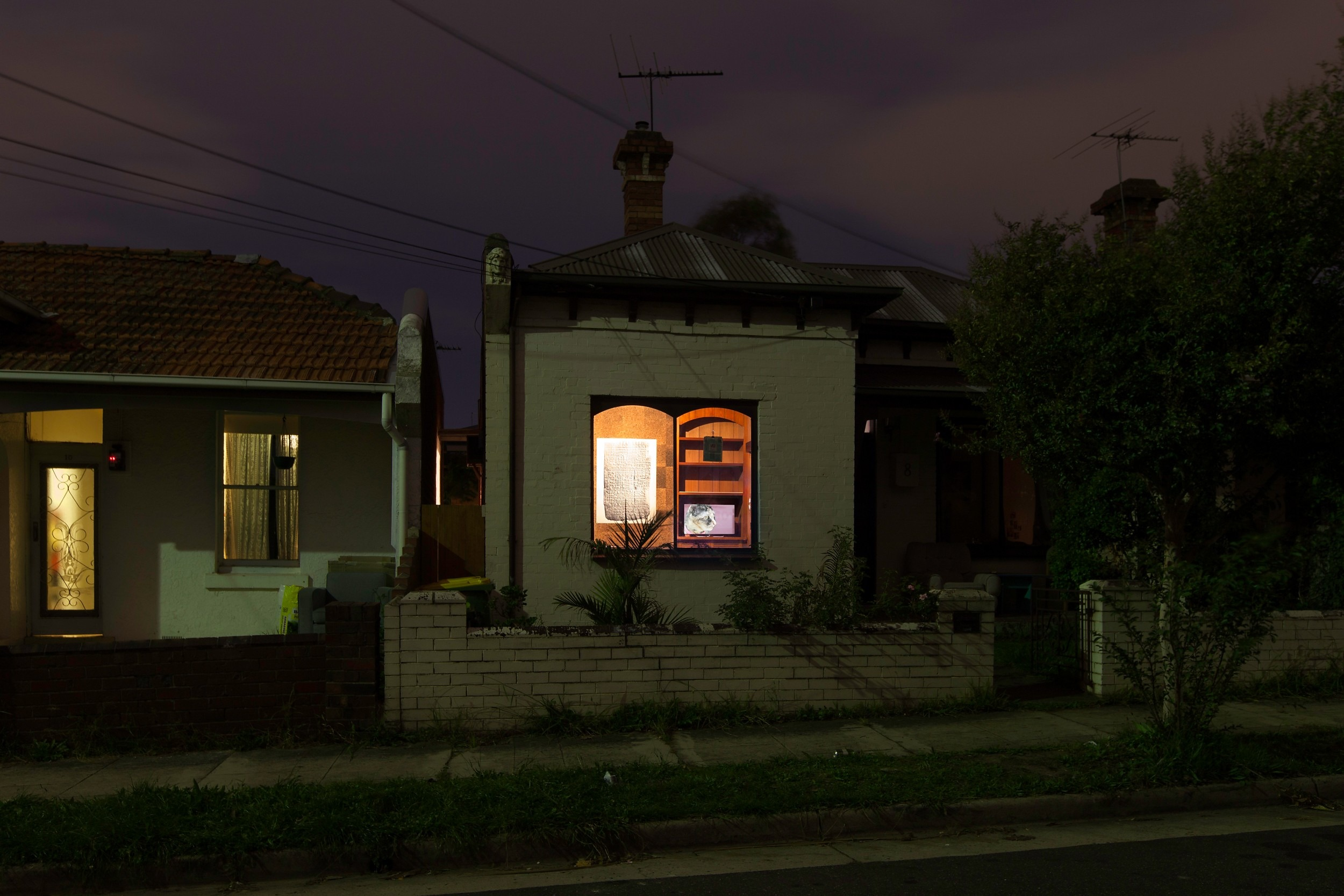 Rohan Schwartz, The Golden Lion, 2014 Installation view, Number Eight Agnes Street, Melbourne, VIC, Australia. Organized by Matthew Greaves and Dan Miller